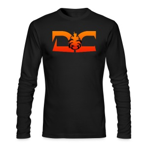 MENS LONG SLEEVE: DotaCinema red logo black - Men's Long Sleeve T-Shirt by Next Level