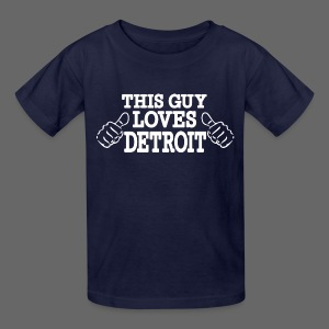 This Guy Loves Detroit - Kids' T-Shirt