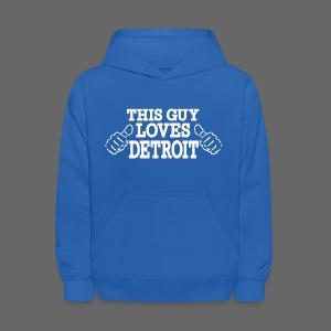 This Guy Loves Detroit - Kids' Hoodie