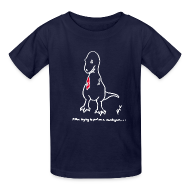 Kids' Shirts ~ Kids' T-Shirt ~ T-Rex Cardigan White Design (Kids)