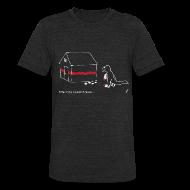 T-Shirts ~ Unisex Tri-Blend T-Shirt ~ T-Rex Painting House White Design (Am Apparel)