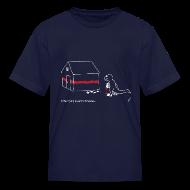 Kids' Shirts ~ Kids' T-Shirt ~ T-Rex Painting House White Design (Kids)