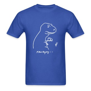 T-Rex Bathroom White Design (Basic Tee) - Men's T-Shirt