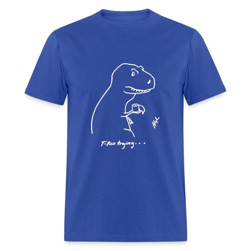 T-Rex Bathroom White Design (Basic Tee) - Men's T-Shirt