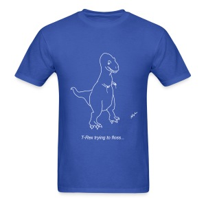 T-Rex Flossing White Design (Basic Tee) - Men's T-Shirt