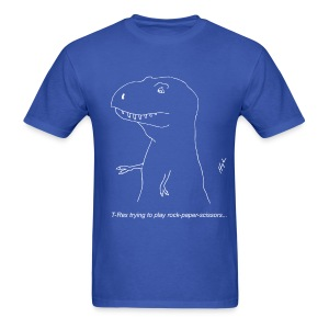 T-Rex Rock Paper Scissors White (Basic Tee) - Men's T-Shirt
