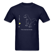 T-Shirts ~ Men's T-Shirt ~ T-Rex Tetherball White Design (Basic Tee)