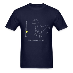 T-Rex Tetherball White Design (Basic Tee) - Men's T-Shirt