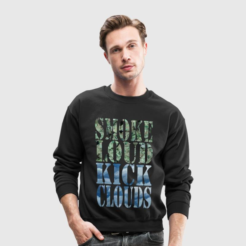 Smoke Loud Kick Clouds Long Sleeve Shirts - Crewneck Sweatshirt
