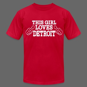 This Girl Loves Detroit - Men's T-Shirt by American Apparel