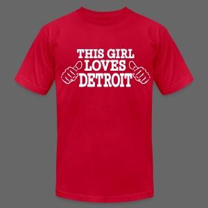 This Girl Loves Detroit - Men's Fine Jersey T-Shirt