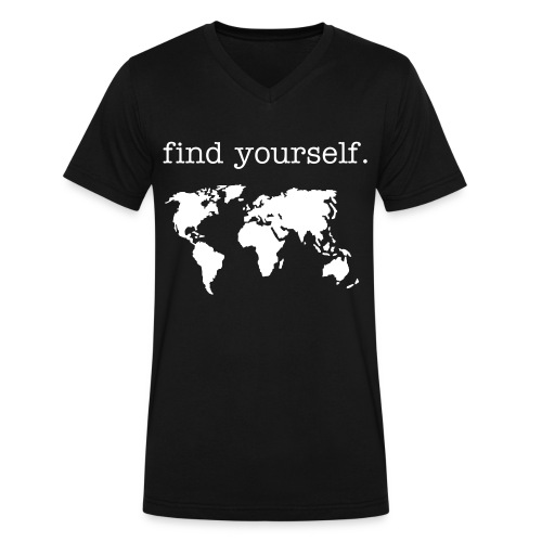 World Map - Men's V-Neck T-Shirt by Canvas