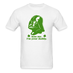 KISS ME I'M YOUR DADDY - Darth Vader St Patrick's Day Men's T-shirt - Men's T-Shirt