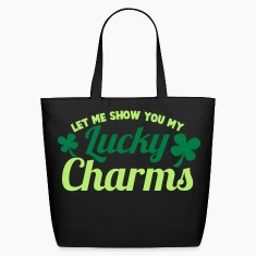 LET ME SHOW you my Lucky Charms with a shamrock Bags