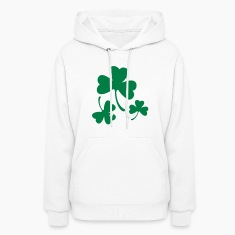 Three Green Shamrocks Hoodies