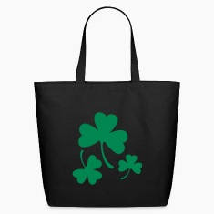 Three Green Shamrocks Bags