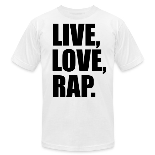 S.S live love rap t-shirt - Men's Fine Jersey T-Shirt