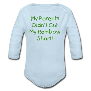 Didn't Cut My Rainbow Short [Text Change Available] - Long Sleeve Baby Bodysuit