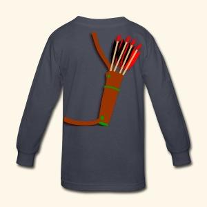 quiver archery design by patjila2 - Kids' Long Sleeve T-Shirt