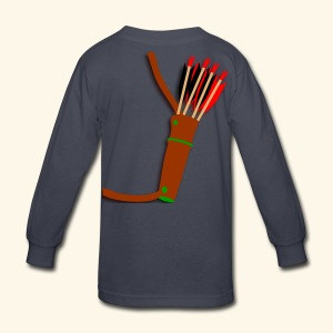 quiver archery design by patjila2 - Kids' Long Sleeve T-Shirt