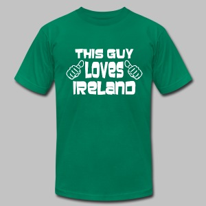 This Guy Loves Ireland - Men's T-Shirt by American Apparel