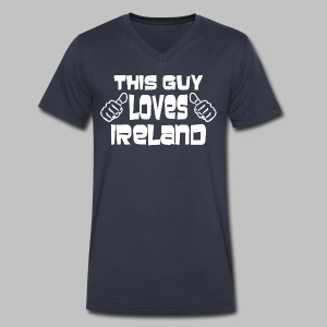 This Guy Loves Ireland - Men's V-Neck T-Shirt by Canvas