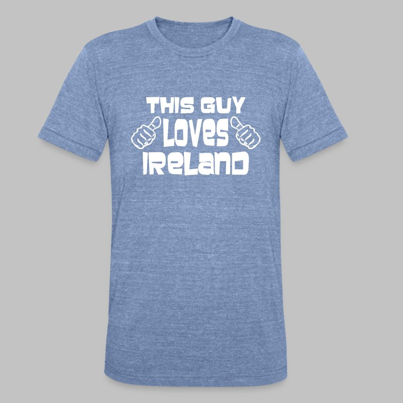This Guy Loves Ireland - Unisex Tri-Blend T-Shirt by American Apparel