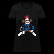 Women's T-Shirts ~ Women's T-Shirt ~ Women's Sock monkey