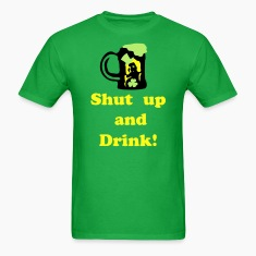 Shut up and Drink st.patick's day Men's Standard Weight T-Shirt