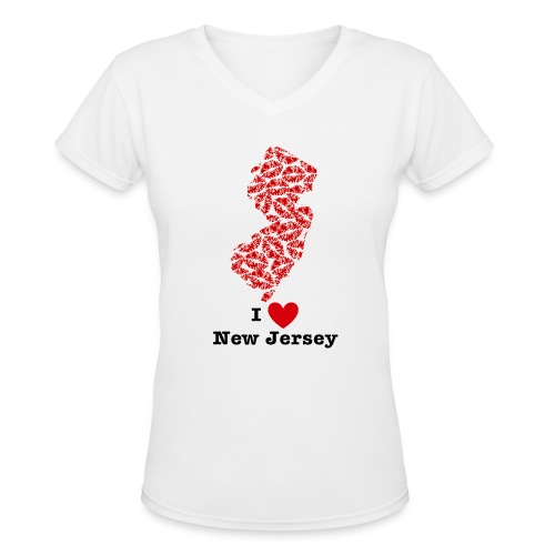 I Love New Jersey V-Neck - Women's V-Neck T-Shirt