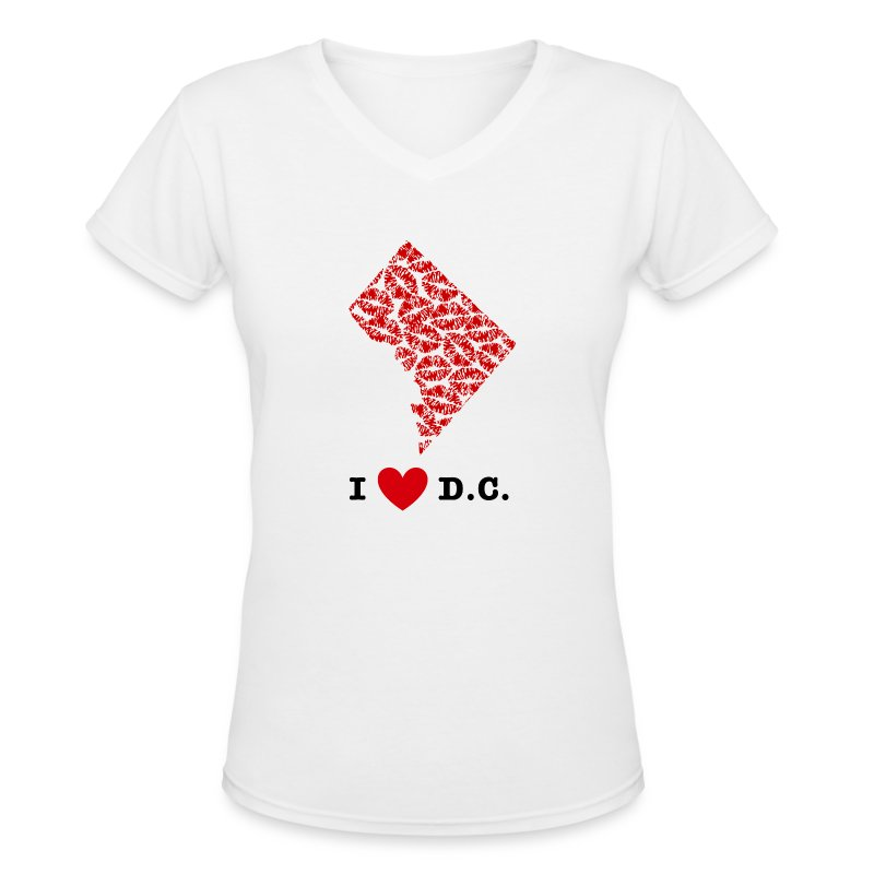 I Love D.C. V-Neck - Women's V-Neck T-Shirt