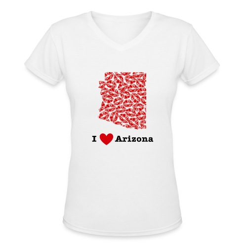 I Love Arizona V-Neck - Women's V-Neck T-Shirt