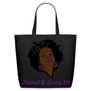SN&LI! Purple Ebony Tote - Eco-Friendly Cotton Tote