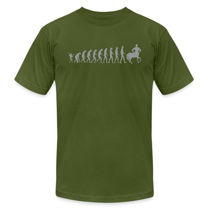 Really Funny Joke Centaur Evolution Man Graphic Design Vector T-Shirts - Men's T-Shirt by American Apparel