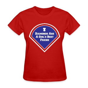 Womens  Diamonds Are A Girls Best Friend Shirt - Women's T-Shirt