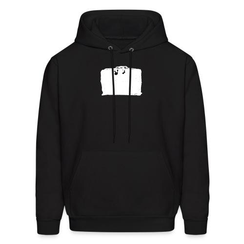 Hooded Sweatshirt, Inverted (White) Classic Black Bag - Men's Hoodie