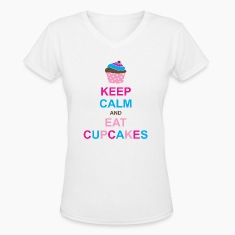 Keep Calm and Eat Cupcakes Women's T-Shirts