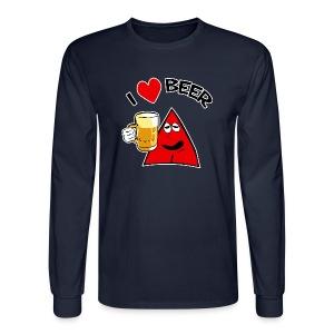 I Love Beer men shirt - Men's Long Sleeve T-Shirt