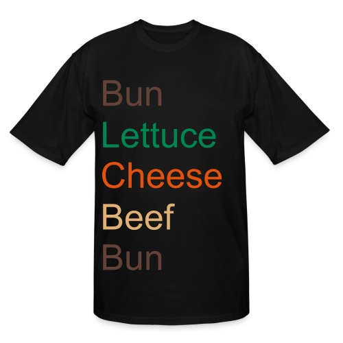 Hamburger Shirt - Men's Tall T-Shirt