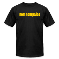T-Shirts ~ Men's T-Shirt by American Apparel ~ Face on Sleeve (Men's)