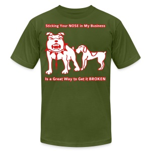 Sticking Your Nose in My Business Dog - Mens T-Shirt - Men's Fine Jersey T-Shirt