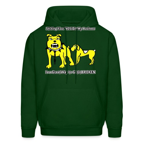 Sticking Your Nose in My Business Dog - Mens Hoodie - Men's Hoodie