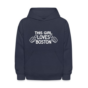 This Girl Loves Boston - Kids' Hoodie