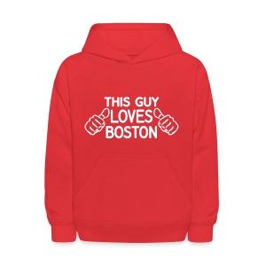 This Guy Loves Boston - Kids' Hoodie