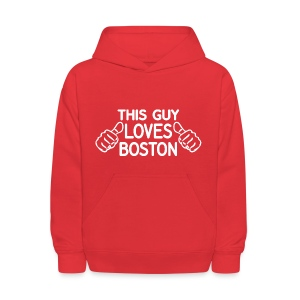 This Guy Loves Boston - Kids' Hoodie