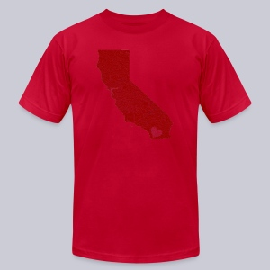 Heart SD - Men's T-Shirt by American Apparel