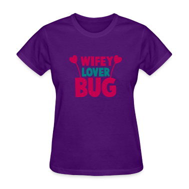 wifey wife lover love bug with cute antennae Women's T-Shirts