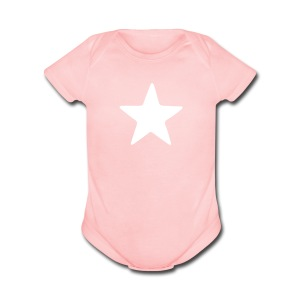 Simplicity Star - Short Sleeve Baby Bodysuit