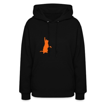 Cat playing with cords - Women's Hoodie