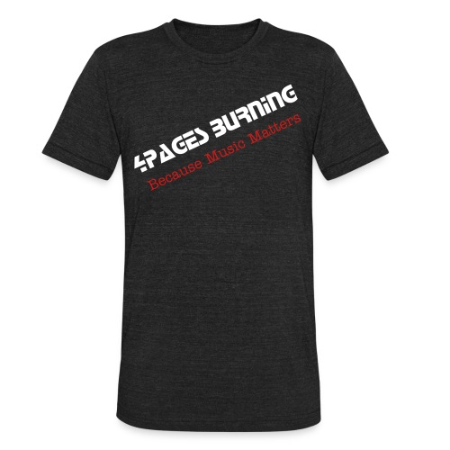 Men's 4Pages Burning T-shirt - Unisex Tri-Blend T-Shirt